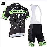 Men's Cycling Jersey Suit Short Sleeve Bike Shirt + 3D Padded Bib Shorts
