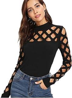 nouveau concept 9a571 50bd1 Amazon.fr : Shein - T-shirts, tops et chemisiers / Femme ...