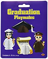Graduation Playmates (4/Pkg) by Beistle