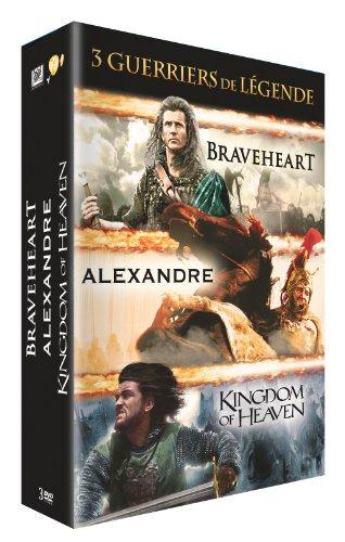 Guerriers de légende-Coffret 3 Films : Alexandre + Braveheart + Kingdom of Heaven