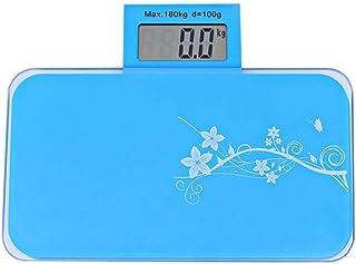 Báscula electrónica Profesional Báscula de baño Báscula de Peso 180 kg Grado Sanitario Acero Inoxidable LCD Digital Báscula electrónica Fina Durable (Color: Rosa)