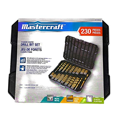 MASTERCRAFT Titanium Twist Drill Bit Set – 230...