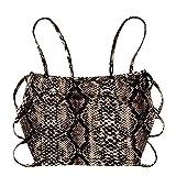 ZAFUL Women's Sexy Strappy Open Back Cami Tank Top Multi-A M