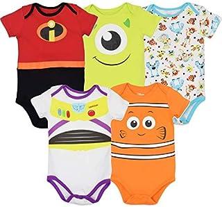 Pixar 5 Pack Costume Design Short Sleeve Bodysuits