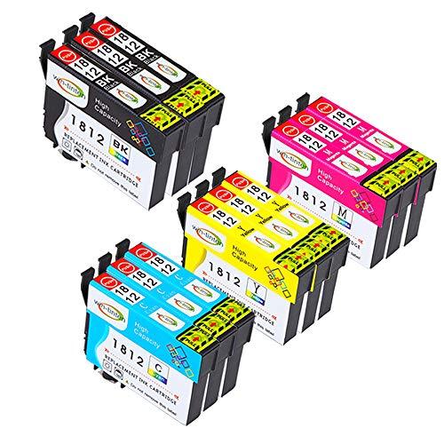 win-tinten 12 Pack di Ricambio per Epson T18XL T1811 T1812 T1813 T1814 Cartuccia d'inchiostro Compatibile per Epson Expression Home XP-425 XP-422 XP-415 XP-412 XP-325 XP-322 XP-315 XP-312