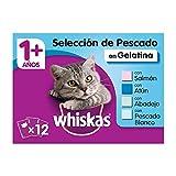 Whiskas Multipack de 12 bolsitas de 100g de selección de pescados para gatos adultos (Pack de 4)