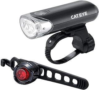 Bike Light Set Cateye EL135 Avant /& Orb Arrière Noir