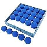 JUHONNZ Puntas de Taco de Billar,50 Pcs Puntas de Repuesto de Taco de Billar,Taco de Billar Accesorios,Azul, 10 mm