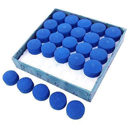 JUHONNZ Billard Queue Spitzen,50 Pcs Pool-billardqueues Ersatz Spitzen Zubehör für Snooker Pool Queues,Blau,10 mm