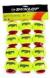 Dunlop Tennisball Mini Tennis Stage 3, Gelb/Rot, One Size
