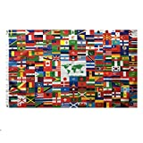 Lixure Welt Flagge/Fahne 90x150 cm(3x5 ft) Weltweite 216 Nationalflagge - Lbendige Farbe und Doppelt Genähte Flaggen aus Polyester mit Messingösen MEHRWEG