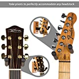 String Swing Guitar Hanger - Holder for Electric Acoustic and Bass Guitars - Stand Accessories for Home or Studio - Musical Instruments Safe without Hard Cases - Cherry Hardwood Wall Mount 2 Pack