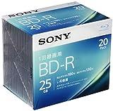 ソニー ビデオ用ブルーレイディスク 20BNR1VJPS4(BD-R 1層:4倍速 20枚パック)