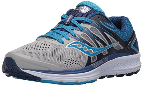 Saucony Women's Omni 16 Running Shoe, Grey Blue, 7.5 Narrow US