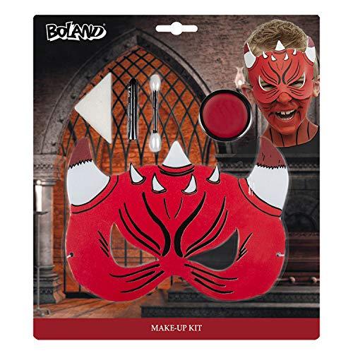 Boland 45090 - Set Trucco Piccolo diavoletto, Colore: Rosso/Nero