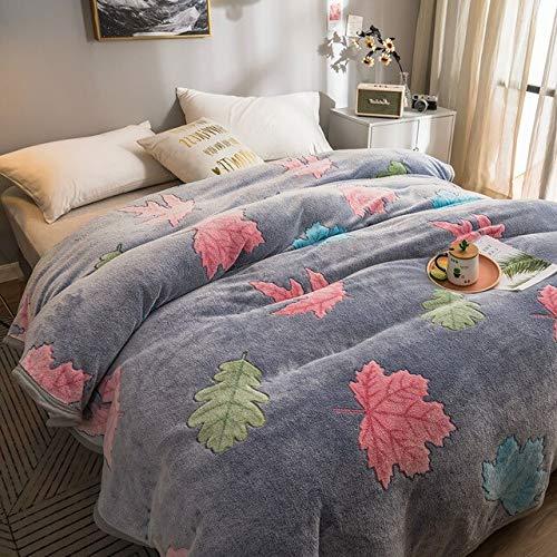 RONGXIE New Snowflake Velvet Sommerdecke Coral Blanket Dünne Bett Single Quilt Sommer Klimaanlage Büro Nickerchen Decke Home Camping Bettwäsche