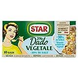 Star Dadi Vegetali Meno Sale, 10 Dadi, 100g