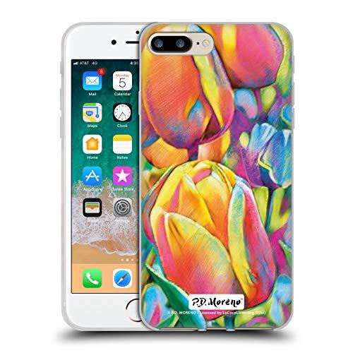 Ufficiale P.D. Moreno Tulipani Designs Assortiti Cover in Morbido Gel Compatibile con Apple iPhone 7 Plus/iPhone 8 Plus