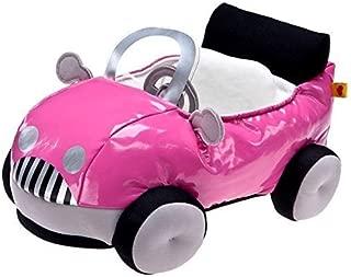 Build a Bear Smallfrys Buddies Cruisin' Pink Fuchsia Convertible Plush Mini Teddy Toy Car
