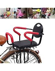 PEALOV Fietskinderzitje achter, kinderveiligheid, kinderzitje, fiets met afneembare omheining, armleuning en kinderkussen, veiligheidsgordel, antislip armleuningen voor kinderen van 2-7 jaar