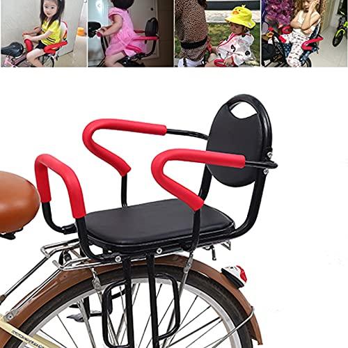 PEALOV Sedia Bici Bambini Posteriore,Biciclette Bambino in Bicicletta Sedile con Recinzione E Pedali,Staccabile,con Cinture di Sicurezza,Reti Protettive,Braccioli Antiscivolo,per Bambini di 2-7 Anni