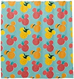 BROOE Duschvorhang mit 12 Haken Maus-Frucht-Symbol-Muster-Badezimmer-Vorhang 72