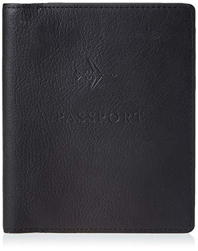 Fossil Leather RFID Blocking Passport Holder Case Wallet , Black