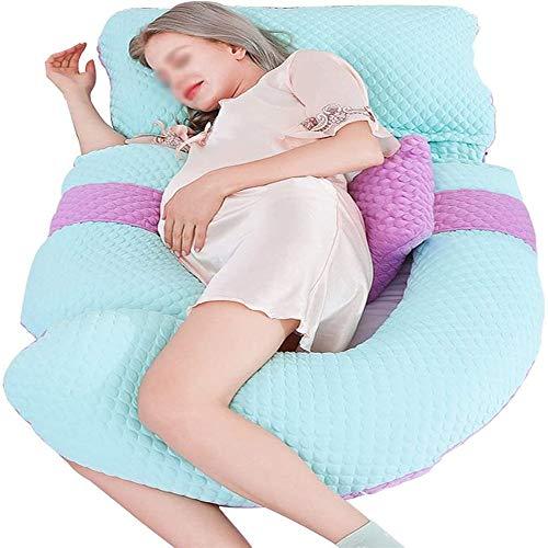 KEDUODUO Speziell für Schwangere Frauen, U-förmig Schwangere Frauen Kissen, Taille Schutz Seitenkissen, Schlaf Assistants für Schwangere Mütter, einstellbaren Abstand,C
