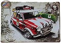 アートブラシとキャンバス数字による塗装キットDIYの子供用大人用オイルアクリル塗装キット(40cmX50cm / 16インチx 20インチフレームレス)-赤い車と掘削機の写真
