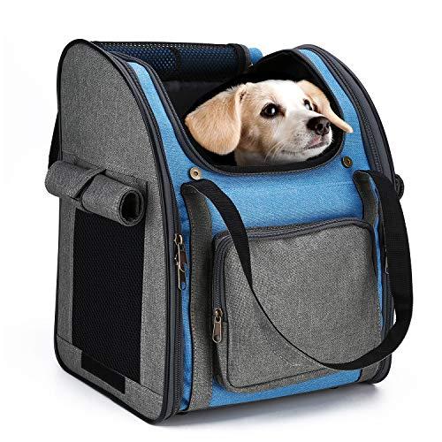 HAPPY HACHI Kat Draagtas Rugzak Puppy Reistas Draagbare Vouwen Huisdier Konijn Mode Handtas, Blauw