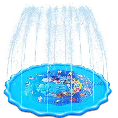 Splash estera del juego del cojín de riego for los niños portátil aerosol de agua Mat Espolvorear Splash Juguetes Mat en verano al aire libre del jardín y la playa Actividades for niños y bebés, 160 c
