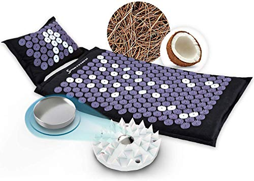 Acupressure Mat with Cushion  Natural Coconut Fibres + Buckwheat Chaff   incl. Chair...