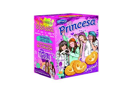 Artiach - Princesa - Galletas con corazn - 1 paquete de 120 gr. - [pack de 4]