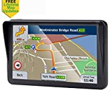 7-inch GPS for Car, 8GB Free Lifetime Map Update Spoken Turn-to-Turn Navigation System for Cars, Portable...