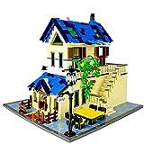 Massage-AED Nanoblock Adultos,Serie De Arquitectura The Rural Villa Building Blocks Set Classic Moc House Toys para Niños Regalos