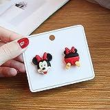 qinhuang 2 Pièces Mickey Minnie Mouse Boucles d'oreilles Jouets De Maquillage, pour Filles Dessin Animé Boucles d'oreilles Cadeaux Mignons