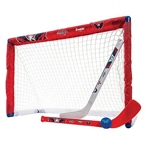 Franklin Sports NHL Team Lizenzprodukt Knie-Hockey-Set–inkl. 2Mini Hockey Sticks und One Schaum Mini Hockey Ball, Unisex, Washington Capitals
