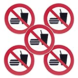 Pegatina Poliéster 3M Prohibido Comer (Pack 5...
