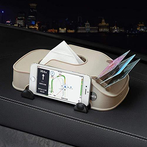 Tejido fondo de pantalla multifunción de coches caja de plástico sostenedor de las tarjetas de teléfono de clip creativo del modelo del coche Tipo de bloque de papel Torre de almacenamiento Caja Acces