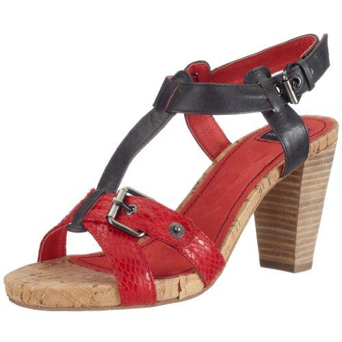 Mexx JANE 126235, Damen Sandalen/Fashion-Sandalen, rot, (coral 12), EU 37