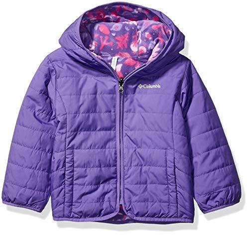 Columbia Kids' Toddler Double Trouble Jacket, Grape Gum/Grape Gum Reindeer, 2T