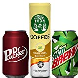 Beersy 3 Pack Can Cover Silicone Sleeve Hide a Beer to Look Like Soda, Variety for 12 oz Standard and Slim, Novelty Alcohol Disguise for Outdoor Events