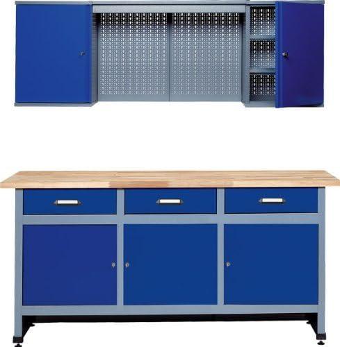Küpper Ensemble établi 170cm bleu outremer fabriqué en Allemagne