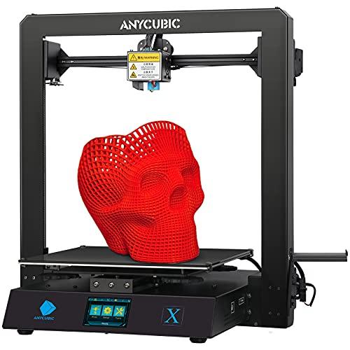 ANYCUBIC Mega X Impresora 3D, Metal Grande FDM con Colchón Térmico Patentado y Filamento PLA de 1 kg, Tamaño de Construcción 30 cm (L) x 30 cm (W) x 30 cm (H)