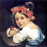 Kit de pintura al óleo / pintura por número / sin borde / niña con corona de opio cuadro de pintura al óleo con pincel pintura kit de pintura por estilo para decoración de adultos kit de estilo