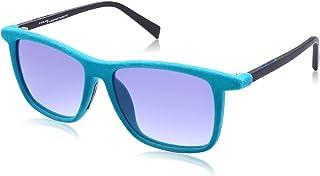نظارة شمس بعدسات شبه مربعة متدرجة اللون وشنبر قطيفة للنساء من ايطاليا انديبندنت - ازرق