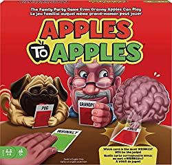 Apples to apples is a kid version of games that are great if you like cards against humanity.