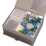 Laiashley Flora - Jabón de baño con pétalos de Flores y Rosas perfumadas, Aceite Esencial de Plantas, jabón de Rosas y Exquisito jabón Hecho a Mano en Caja de Regalo para cumpleaños/día de la Madre