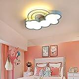 HYH Lampadari Cartoon Blue Cloud Arcobaleno Soffitto del LED Lampada di Protezione degli Occhi A Sospensione del Ragazzo della Ragazza del Bambino Camera Kindergarten (Color : Warm Light, Size : M)
