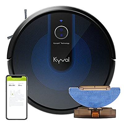 Kyvol Cybovac E31 Robot Vacuum, Sweeping & Mopping Robot Vacuum Cleaner with 2200Pa Suction, Smart Navigation, 150 mins Runtime, Works with Alexa, Self-Charging, Ideal for Pet Hair, Floor and Carpets